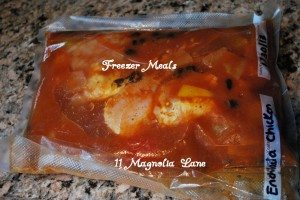 Freezer Enchilada Chicken