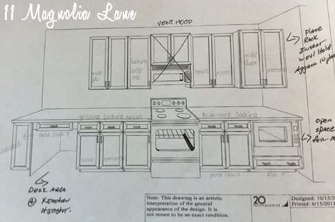 pre-move kitchen planning diagram