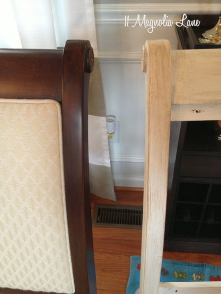 Dining room chairs before and after
