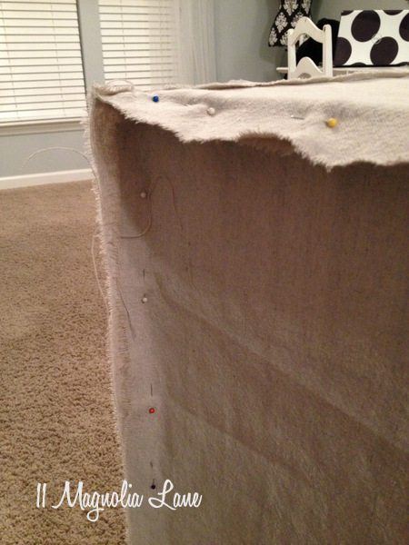 Close up of dog crate slipcover