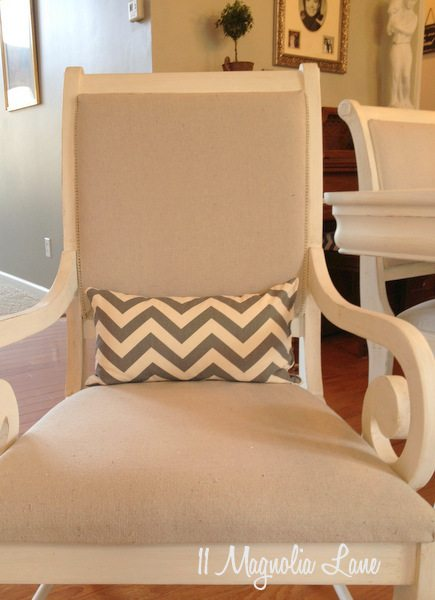 Gray chevron lumbar pillow