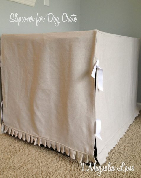 Dog Crate Slipcover by 11 Magnolia Lane