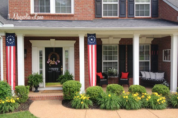 Red, White, and Blue Front Porch for Memorial Day