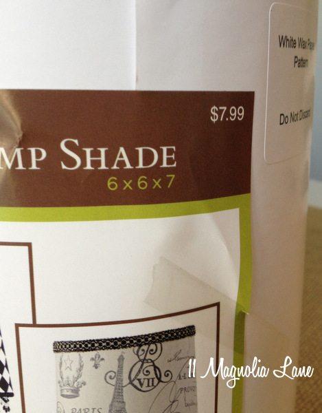 Self-adhesive drum lamp shade