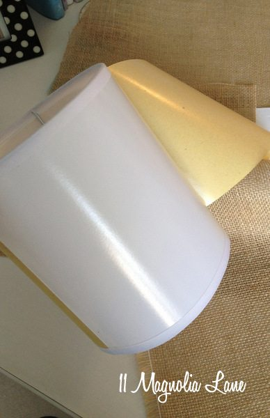 Self-adhesive lamp shade