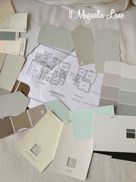 Paint color selections at 11 Magnolia Lane