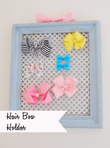 Easy/DIY {Girl's Birthday Gift} Hair Bow Display