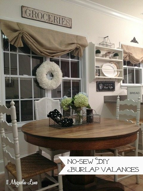 Tutorial:  How to Make a No-Sew DIY Burlap Window Valance