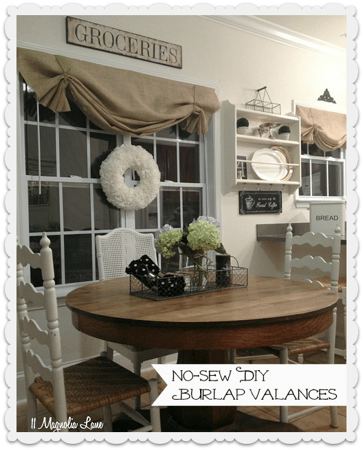 Tutorial How To Make A No Sew Diy Burlap Window Valance