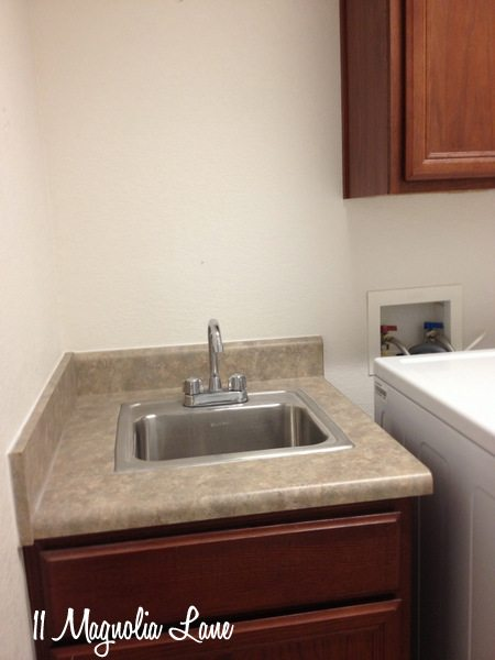 Laundry Room Sink Before