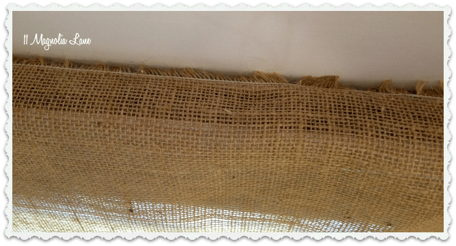glue burlap door
