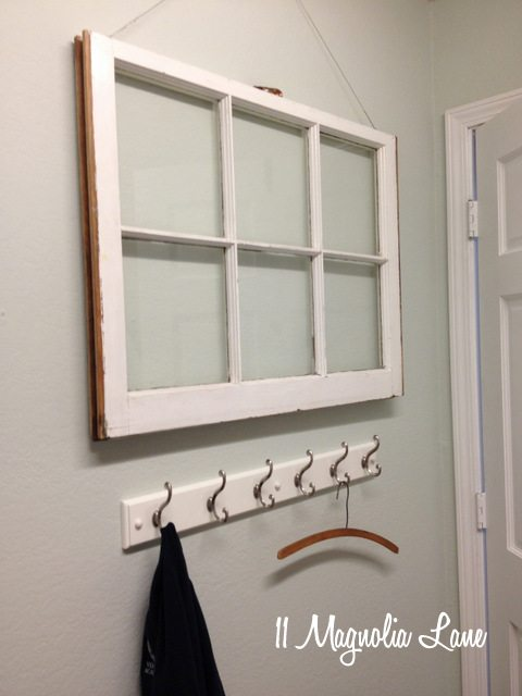 window in laundry room