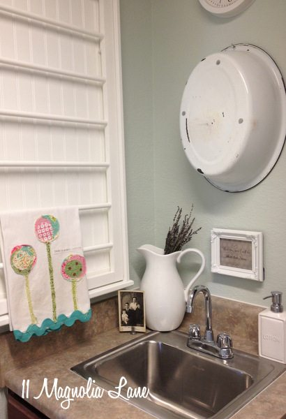 Our New Home–Small Laundry Room with Vintage Touches