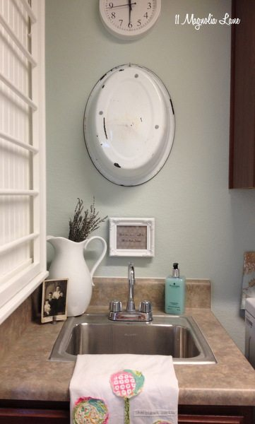 Our New Home--Small Laundry Room with Vintage Touches