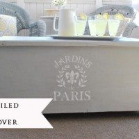 stenciled antique chest