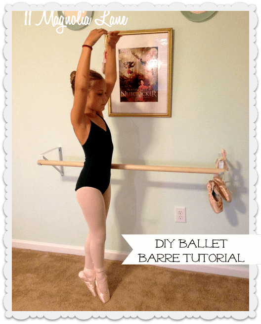 how to build a ballet barre at home