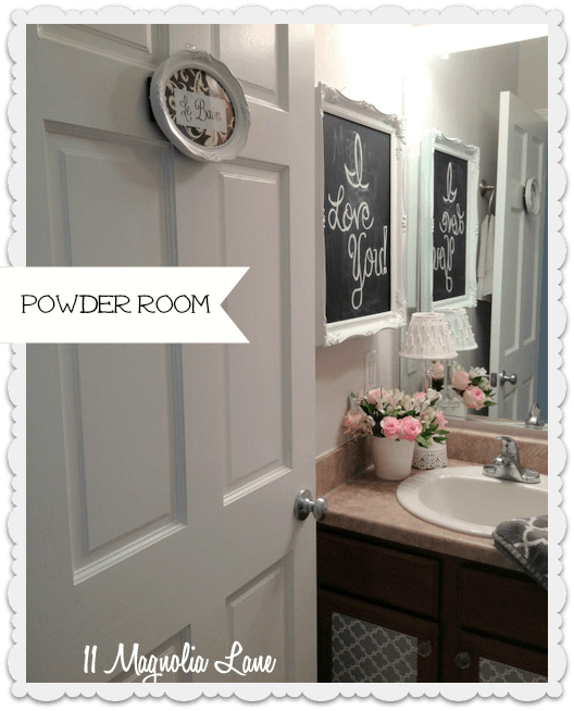 powder room from door