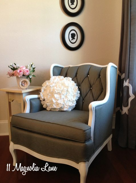 Tutorial:  How to Paint Upholstery Fabric and Completely Transform a Chair!