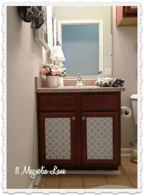 Sink cabinet bathroom decor