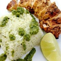 Fajita Chicken with Green Onion and Cilantro Rice