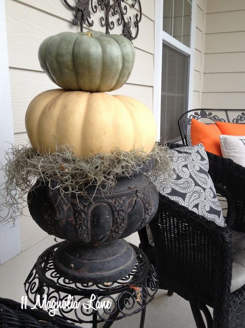 heirloom pumpkin topiary