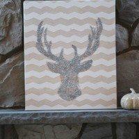 glitter-deer-head-sillouette-craft-tall
