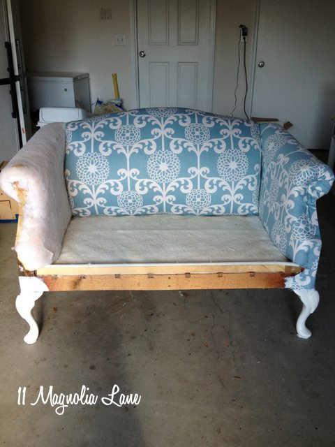 Reupholstery 101 My Thrift Store Loveseat Redo Part 2