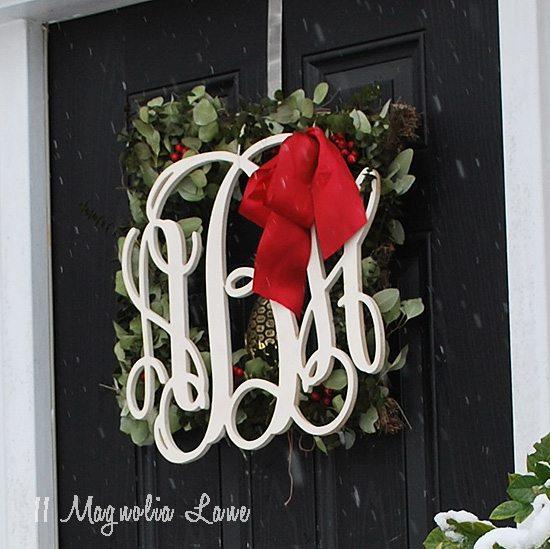 front door monogramfrontdoormonogramwreath
