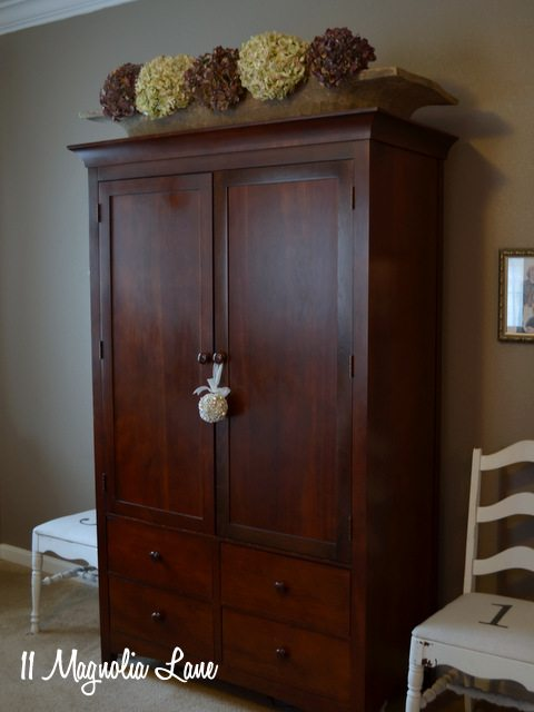 master bedroom cherry armoire wardrobe
