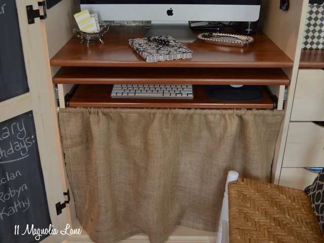 burlap skirt computer