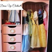 organized dress up clothes marked