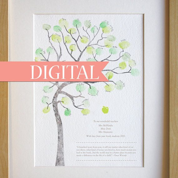 teacher Apprecation Finger Print Tree