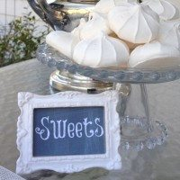 A Must for Entertaining~Easy DIY Chalkboard Buffet Markers