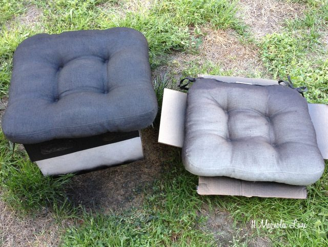 Spray Painting Upholstered Furniture #21: Spray-paint-cushions-side-by-side