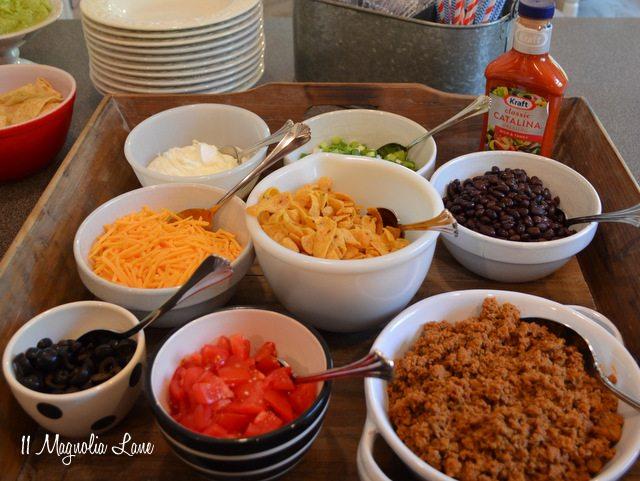 Easy Entertaining: Taco Salad Bar | 11 Magnolia Lane