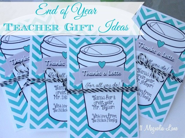 School bags for year 11 - End Of Year Teacher Gift Idea Quot Thanks A Latte Quot Coffee Gift Cards 11