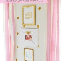Gold & Pink Polkadot Girl's Room