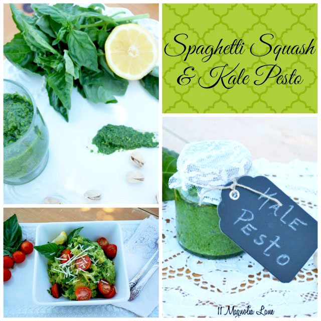 Spaghetti Squash with Kale Pesto