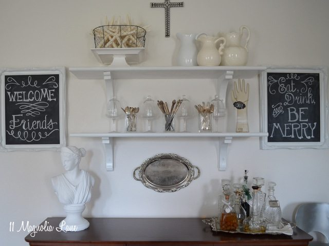 updating the open shelving in my dining room | 11 magnolia lane
