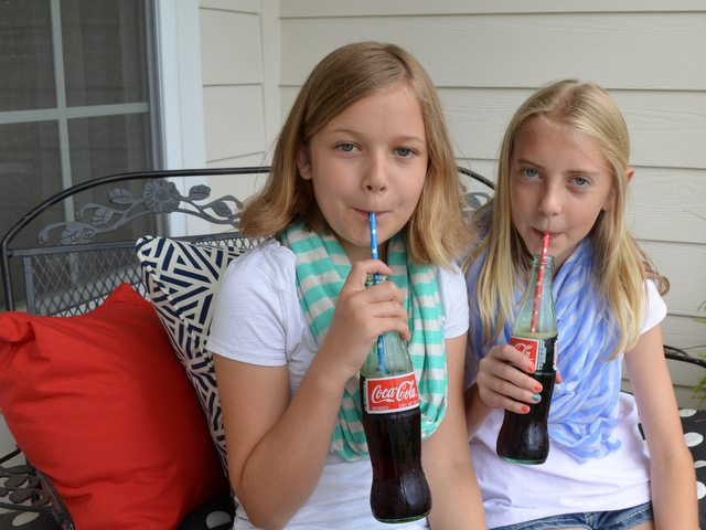 Coke in glass bottles--yum!