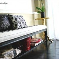 Black and White Bench Seat