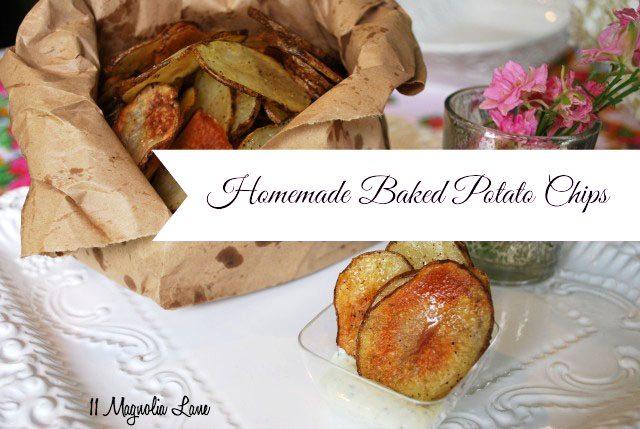 homemade potato chips baked sweet potato chips loaded baked potato dip ...