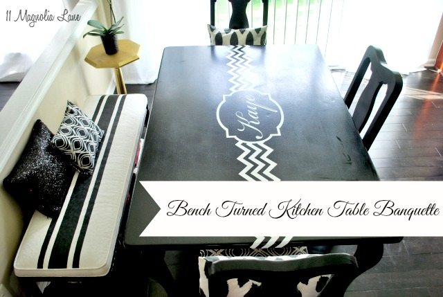 diy kitchen table banquette using chalk paint decorative pillows and wire baskets bench painted chalk paint