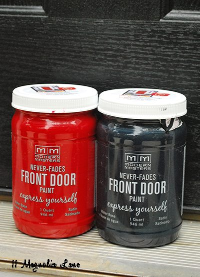 front door makeover with modern masters front door paint | 11