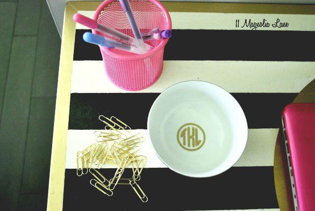 Monogram Gold Bowl
