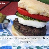Caprese Burger with Banner