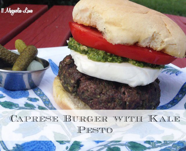 Caprese Burger with Pesto
