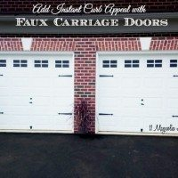 Faux Carriage Door Garage