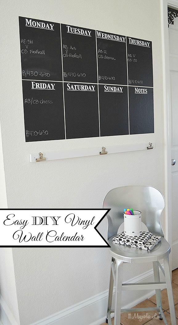 Chalkboard Calendar Wall : Diy chalkboard vinyl wall calendar magnolia lane