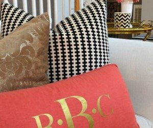Enter to win a gold fabric monogram perfect to make pillows
